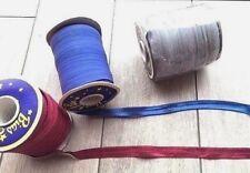 "Fold Over Elastic, BURGUNDY, BLUE - 16mm 5/8"" - 1m, 5m, 10m, Roll Per Metre SALE"