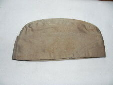 WWII US Army Military Garrison Cap Hat Khaki (Small) 7 No Piping Cotton