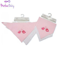 """BAVAGLINI """"confezione da 2"""" BANDANA Bavaglini Rosa Velcro Cotone Easy Fit NUOVA con etichetta"""