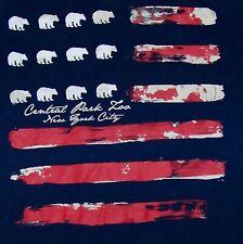 CENTRAL PARK ZOO / NEW YORK CITY / USA AMERICA / DARK BLUE ADULT T- SHIRT SIZE M