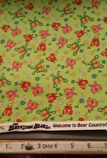 Welcome to Bear Country by Berenstain Bears for Moda Fabrics 55505-16 Green