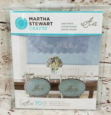 Martha Stewart Crafts Paper Stencils Sans Serif Alphabet 73 Designs NEW