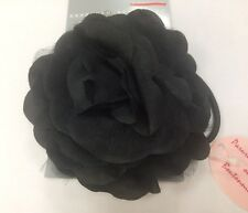 John Lewis Black Rose Corsage wrist band / Hair clip wedding party accessory