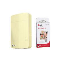 LG Pocket Photo3 PoPo PD251 Portable Mobile Printer + Zink 30 Sheets Yellow