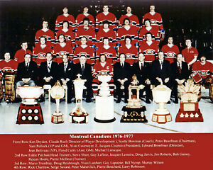 Montreal Canadiens 1976-77 Stanley Cup Champions - 8x10 Color Team Photo