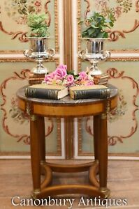 Single French Antique Side Table - Empire