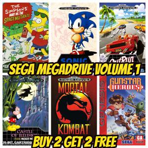 SEGA MEGADRIVE GENESIS GAME POSTERS Vintage Retro Game Bedroom Decor Wall Kids