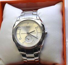 ESQ Movado 07101400 Ladies Origin Silver Dial Stainless Steel Date Watch $295