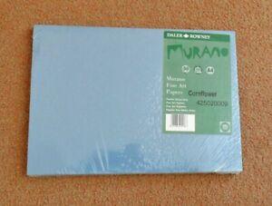 Daler Rowney Murano fine art paper. Pack of new sealed 50xA4 sheets. Cornflower.