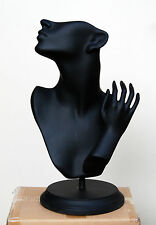 Jewellery Display Form, Jewellery Mannequin in Black, Made from Fibreglass