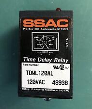 NIB SSAC/ABB TDML120AL 120 VAC 4893B Time Delay Relay