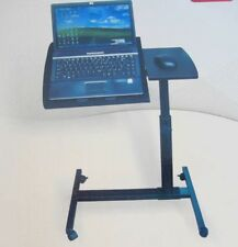 1X Bedside Rotating Computer Desk Laptop Table w/Wheel