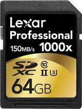 Tarjetas de memoria Lexar SDXC para cámaras de vídeo y fotográficas