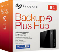 Seagate - Backup Plus Hub 6TB External USB 3.0 Portable Hard Drive - Black