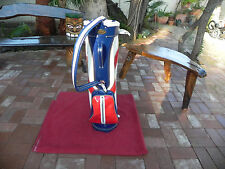 Ladies or Men, Vintage, Ajay, Red White and Blue, Cart Golf Bag* Made in Usa *