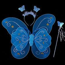 Fairy Tale Character Butterfly Cosplay Costume Wings Wand Headband 3 Pcs Set B67