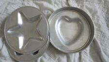 Vintage Aluminum Round Baking Pan with Three Interchangeable Inserts