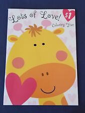 new LOTS OF LOVE - GIRAFFE coloring books FOR YOUNGER KIDS COLORING BOOK