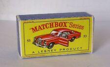 Repro box MATCHBOX 1:75 Nº 53 MERCEDES BENZ coupé plus vieux