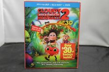 Cloudy with a Chance of Meatballs 2 (Blu-ray 3D + Blu-ray + DVD) NEW!