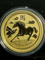 2014 lunar horse 1/4 oz gold coin 9999 Perthmint bullion S2