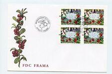 Aland FDC 2004 Framas ATM Labels Lingon Berry 4 Values AL-1