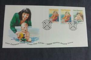 1998 Health Stamps New Zealand 3 Stamps First Day Cover Wanganui SHS