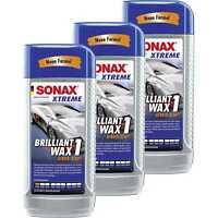 3x SONAX XTREME BrilliantWax 1 Hybrid NPT Hartwachs Versiegelung 500 ml