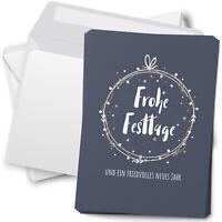 15 Weihnachtskarten mit Umschlag Set Grußkarten Weihnachten Motiv Kranz
