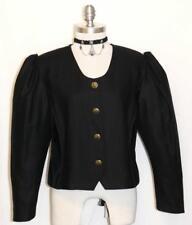 "BLACK JACKET WOOL & VELVET German Women Holiday Church Dress Suit Coat B40"" 10 M"