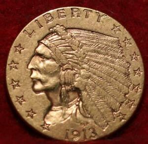 1913 Philadelphia Mint $2.50 Gold Coin