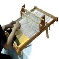 Tabletop Tapestry Weaving Loom Wide Warping Oak Frame Craft Long Short Warp Rods