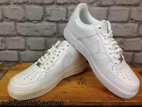 NIKE AIR FORCE 1 LOW BASKETBALL TRAINERS 82 WHITE LEATHER MENS LADIES