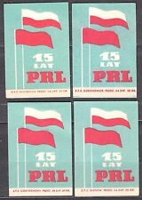 POLAND 1959 Matchbox Label - Cat.Z#145 15 years of People's Republic of Poland.