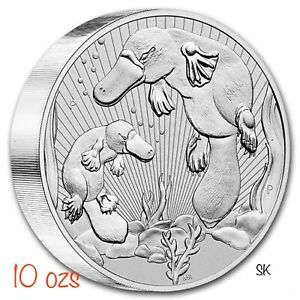 2021 Mother & Baby Platypus 10 oz Piedfort Silver Coin