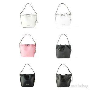 Michael Kors Eden Leather Medium Bucket Shoulder Bag Purse