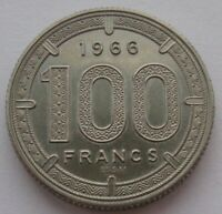 EQUATORIAL AFRICAN STATES 100 Francs 1966 ESSAI UNC Condition