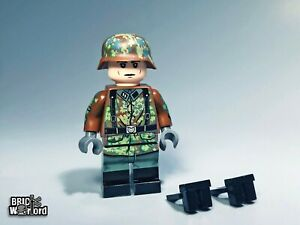 WW2 Waffen SS Minifigure with Ammo Pouches Fit Lego