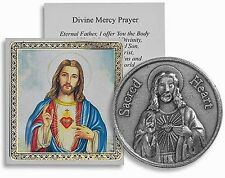 Sacred Heart of Jesus Pocket Coin with Holy Card and Prayer NEW SKU TS038
