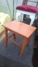 Vintage 1960s Solid Wood Coffee Table on Tapered Legs