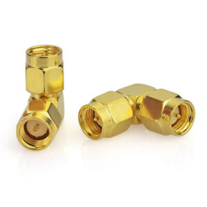 2-pack SMA Male to Male Right Angle Connector Adapter for Cell Phone Booster