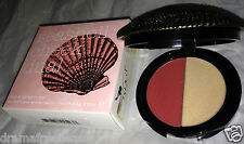 Duwop Isla Sirena Seashell Cheek Dual Blush Highlighter RUBELLITE Peach Gold NIB