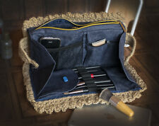 Large Makeup Bag with Brush Holder Women Clutch Organizer Cosmetic Handmade