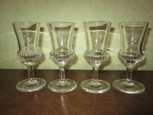 An old set of Scottish thistle shaped cut glasses
