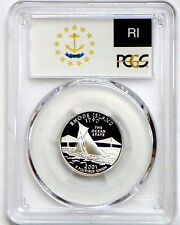 2001-S Rhode Island Silver Proof State Quarter PCGS PR69DCAM - State Flag