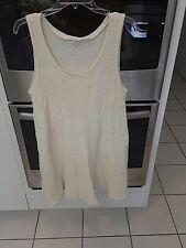 Garnet Hill Size L Creme Color Dress