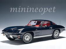 AUTOart 71181 1963 CORVETTE STING RAY SPLIT WINDOW 1/18 DIECAST MODEL CAR BLUE