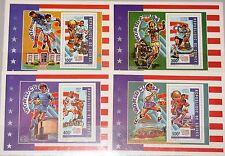 GUINEA 1992 Block 411-14 A Soccer World Cup 1994 USA Fußball WM Football MNH
