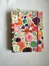 Kate Spade LG Planner W/ Charm Watercolor Floral Journal 2018 2019