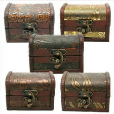 New Vintage Metal Lock Jewelry Treasure Chest Case  Holder Handmade Wooden Box
